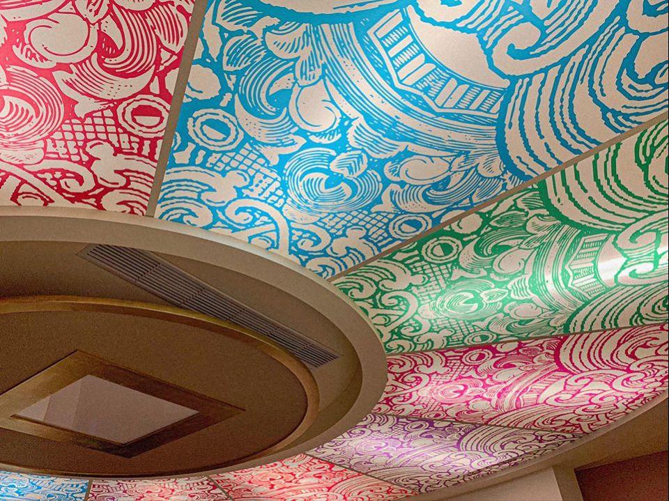 股票博物館天花板